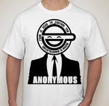 Anonymous Laughing Man Fear Is Used To Control You T-shirt