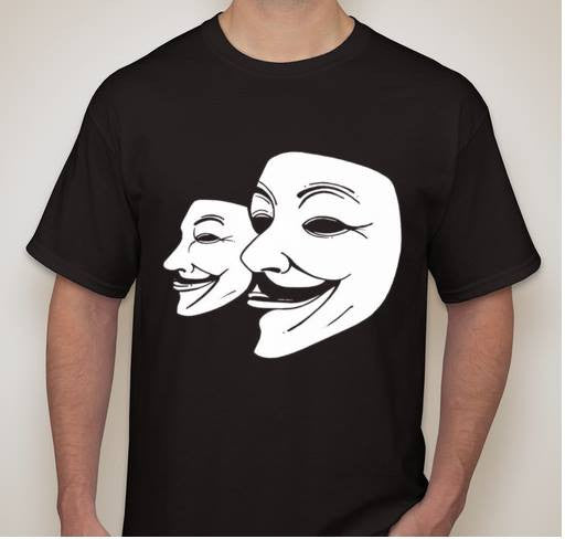 Anonymouses 2 Masks T-shirt