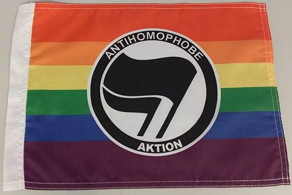 "Antihomophobe Aktion Antifa 15x12"" Mini Flag"