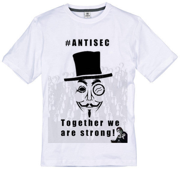 Anonymous #AntiSec Together We Are Strong T-shirt