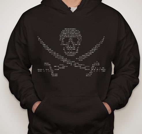 Anonymous Ascii Pirate Hoodie