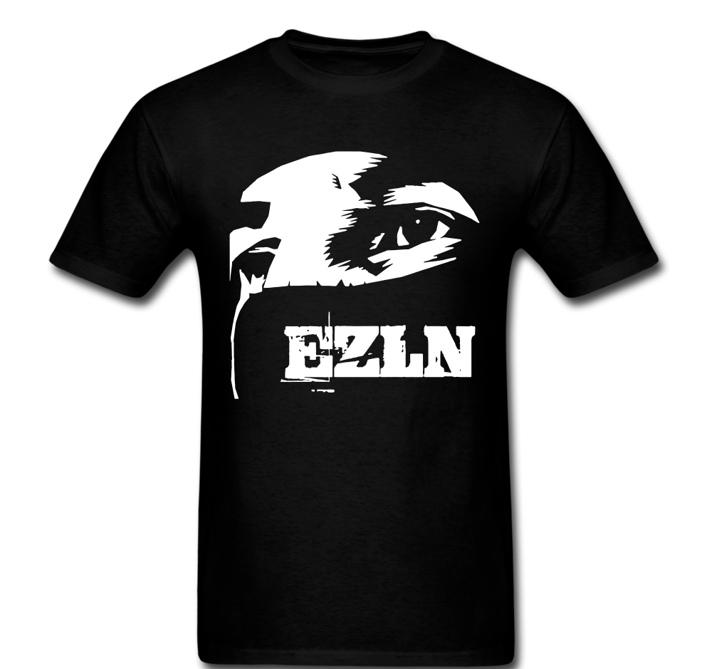 EZLN Zapatista Star Zapata Man Mask War T-shirt Tee