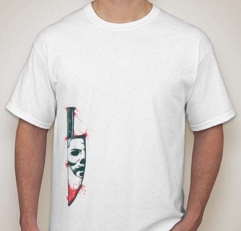 Jason Friday The 13th Bloody Knife Anonymous Skull T-shirt