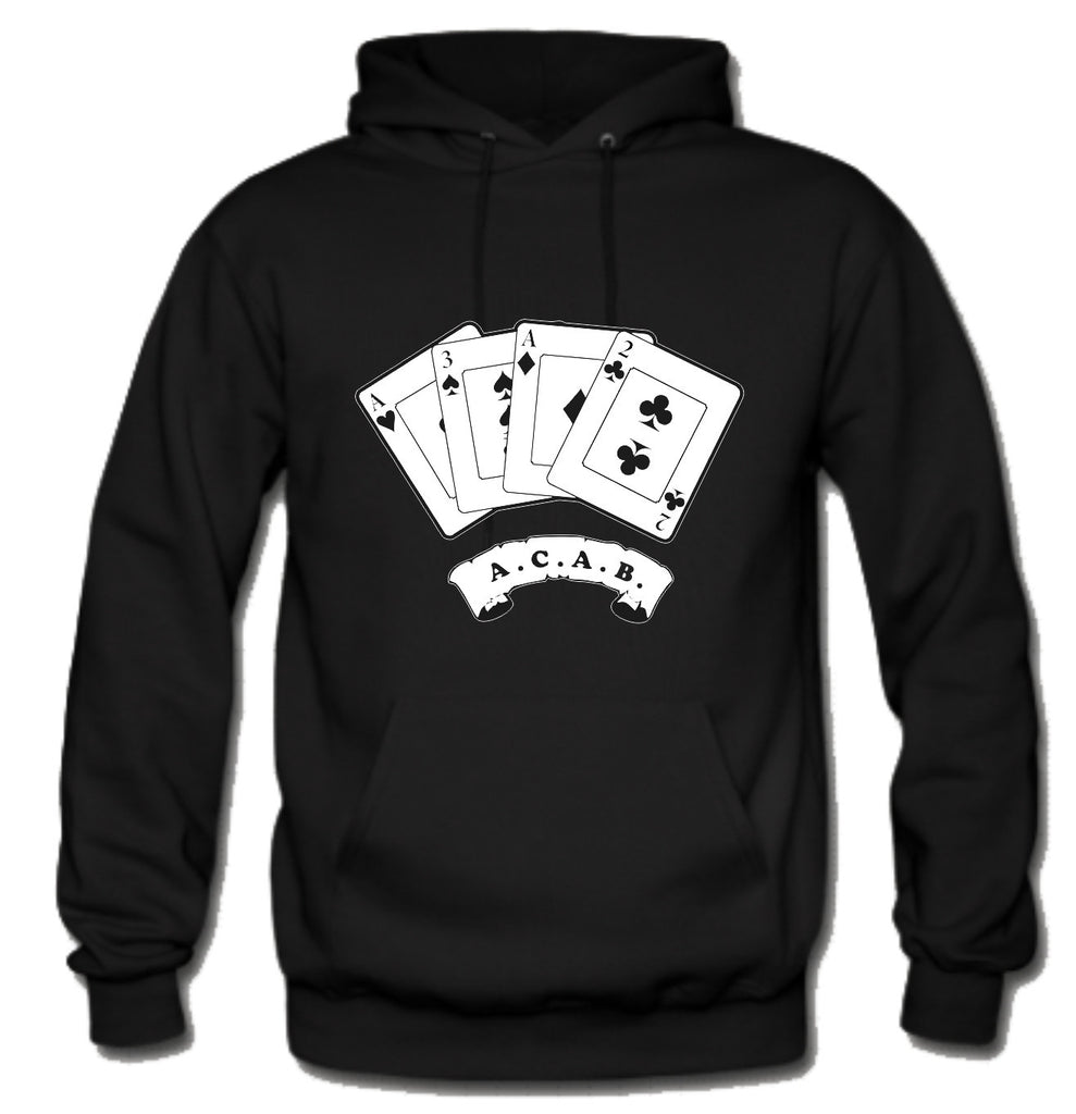 ACAB Scroll with Playing Cards A.C.A.B. Hoodie