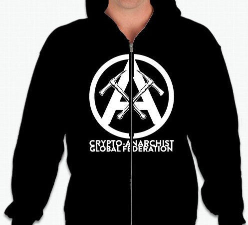 Crypto-Anarchist Global Federation Full-Zip Hoodie