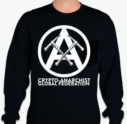 Crypto-Anarchist Global Federation Long Sleeve T-shirt