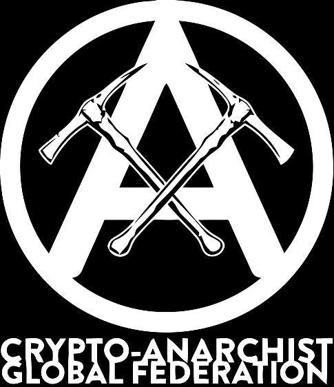Crypto-Anarchist Global Federation | Die Cut Vinyl Sticker Decal