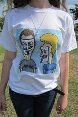 Anonymous Beavis & Butthead T-shirt | Dan Bellini Occupy Art