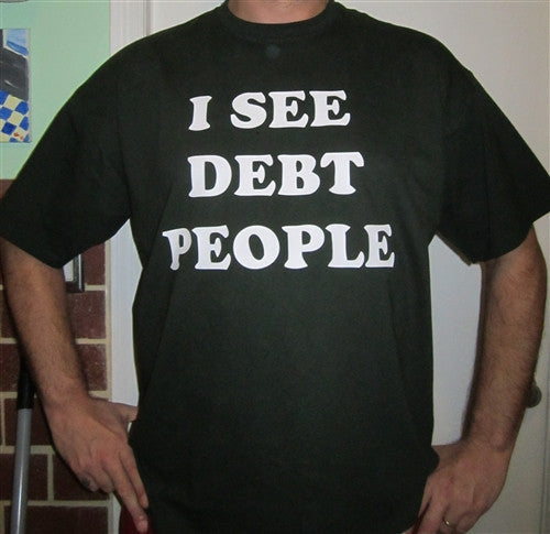 Occupy I SEE DEBT PEOPLE T-shirt