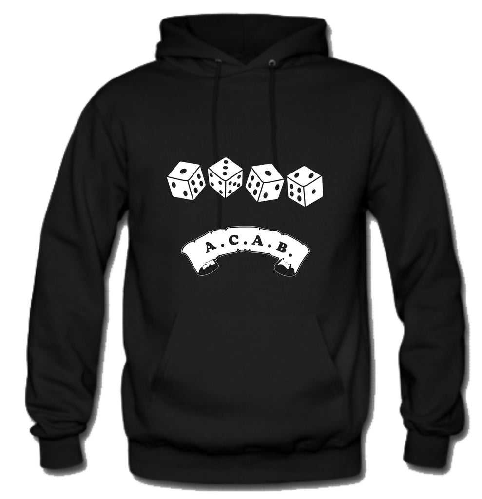 ACAB Scroll with Dice A.C.A.B. Hoodie
