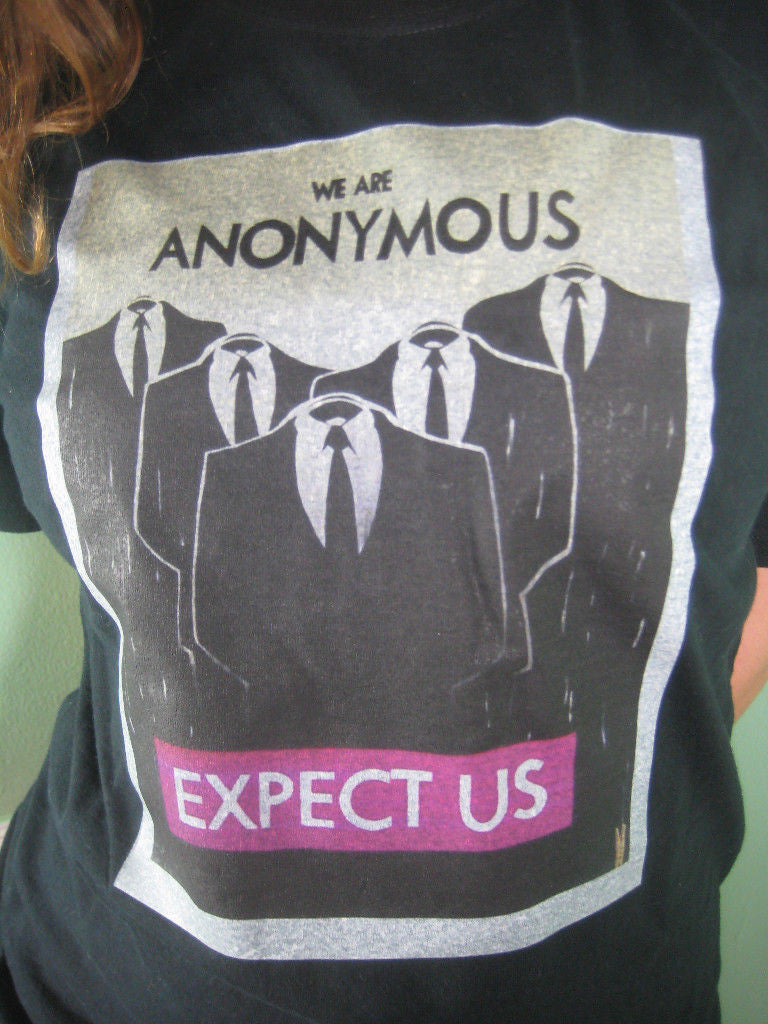We Are Anonymous Expect Us T-shirt
