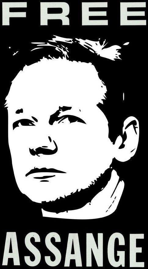 Free Assange - Julian Assange Die Cut Vinyl Sticker Decal