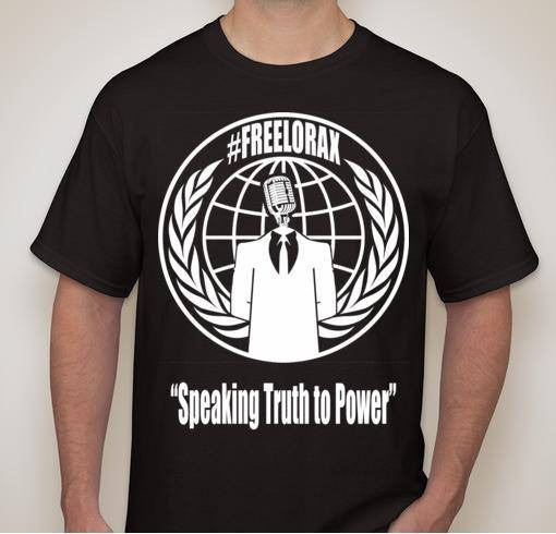 Free Lorax Anonymous FreeAnons Fundraiser T-shirt Speaking Truth To Power | 100% of the Purchase Price Is Donated!