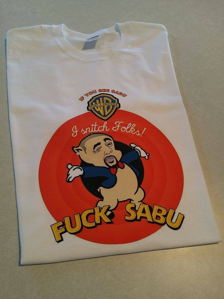 Fuck Sabu Warn a Brother Snitch T-shirt #FuckSabu Anonymous The Cryptosphere