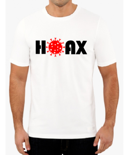 A1 HOAX 2020 Virus Flu T Shirt Government conspiracy FAKE NEWS! Coronavirus Pandemic