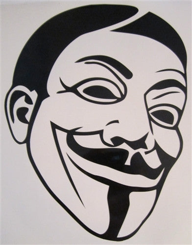 Anonymous Homie Guy Fawkes Mask | Die Cut Vinyl Sticker Decal