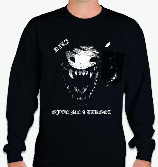 Kali Linux Dragon Pentest Give Me A Target Long Sleeve T-shirt