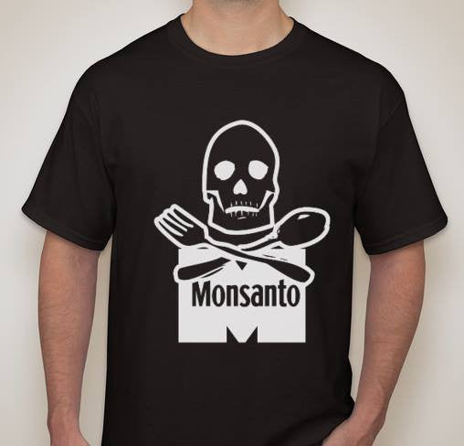 Monsanto Skull White Art T-shirt