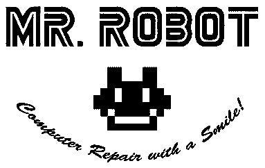 Mr Robot TV Show Computer Repair With A Smile | Die Cut Vinyl Sticker Decal