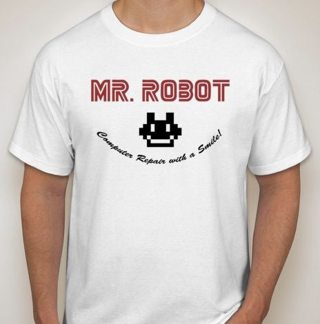Mr Robot Computer Repair With A Smile TV Show T-shirt