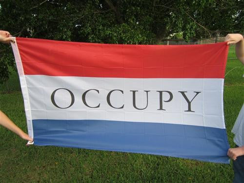Occupy Large Flag 5x3 feet