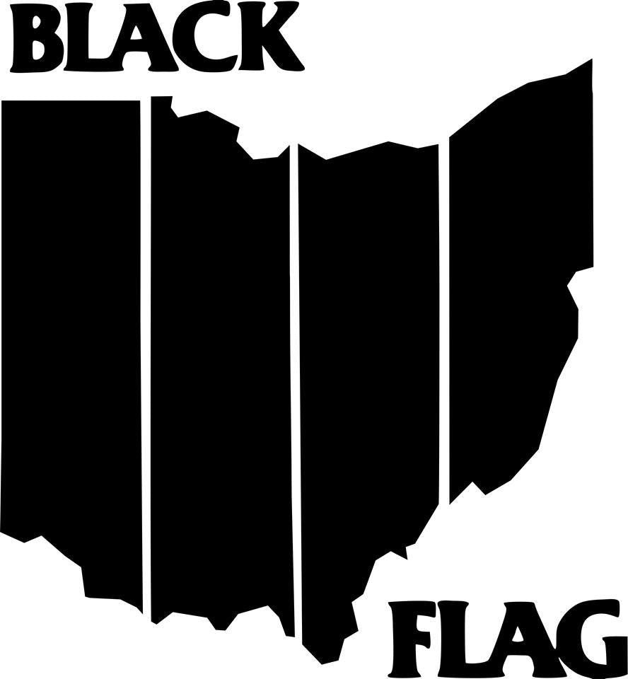Black Flag OHIO die cut decal sticker Punk Rock