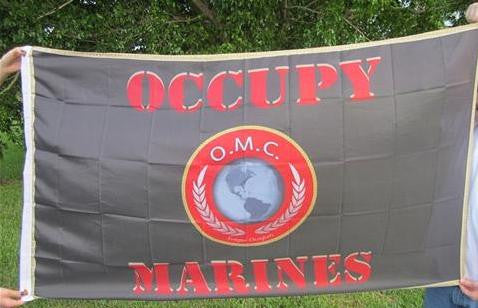 Occupy Marines USMC Large Flag Red Print 5x3 feet