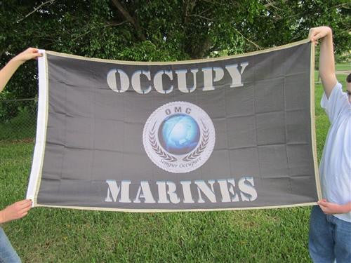 Occupy Marines USMC Large Flag 5x3 feet