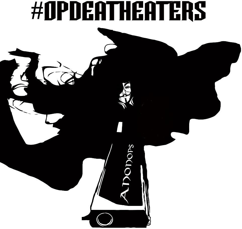 Anonymous #OpDeathEaters AnonOps | Die Cut Vinyl Sticker Decal