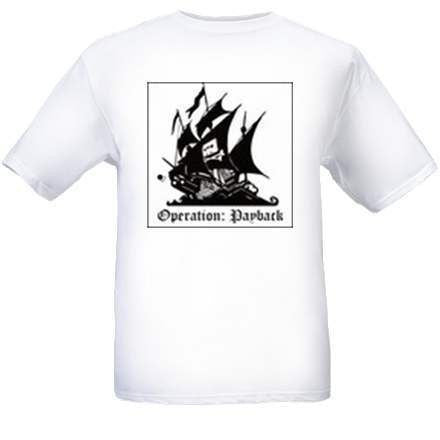Anonymous the Pirate Bay Operation Payback T-shirt