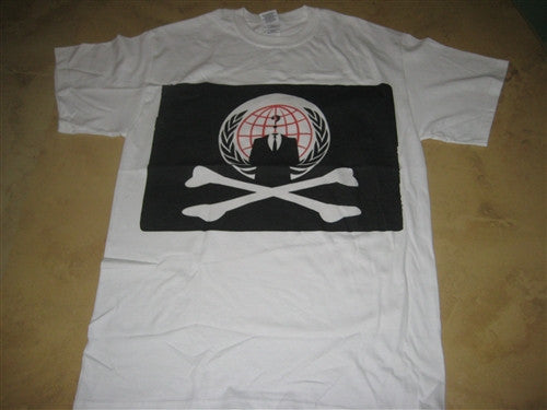 Anonymous Pirate Flag with Crossbones T-shirt