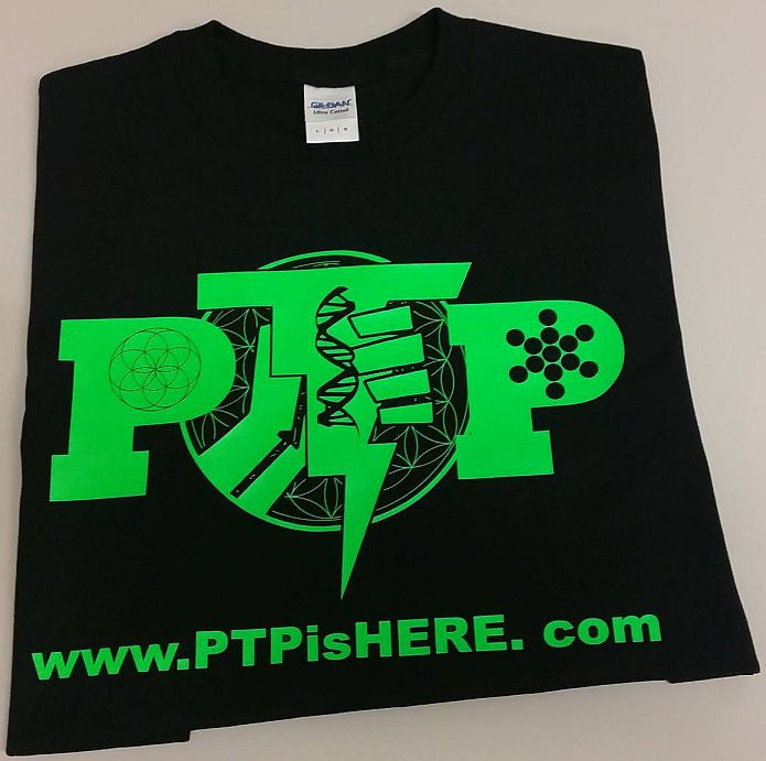 PTP Hip Hop Artist Green Art URL T-shirt