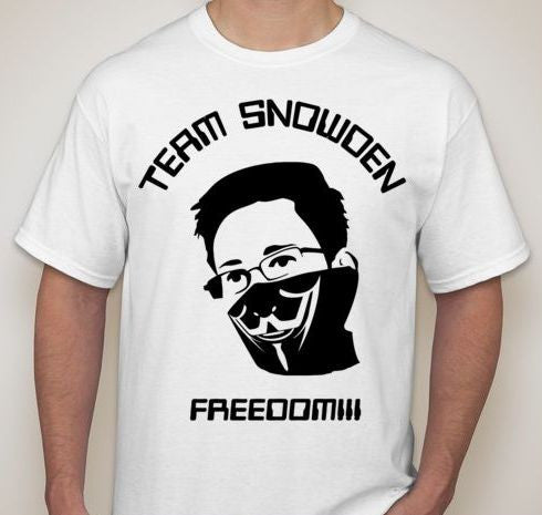 Team Edward Snowden Anonymous Bandana Citizenfour Whistleblower Movie T-shirt