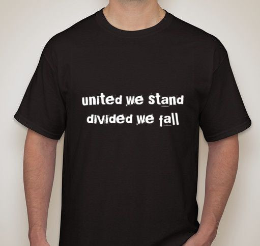 Anonymous United We Stand Divided We Fall T-shirt