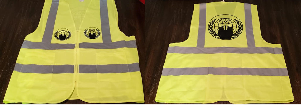 Anonymous Yellow safety Vest Protesters Protest