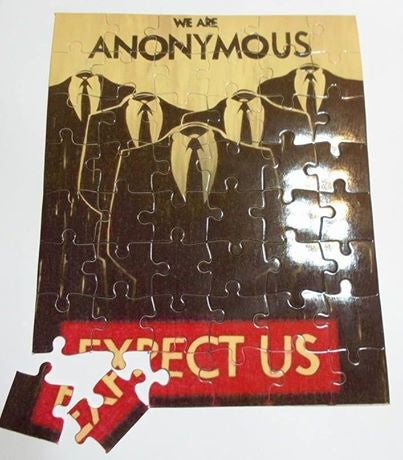 We Are Anonymous Expect Us Puzzle