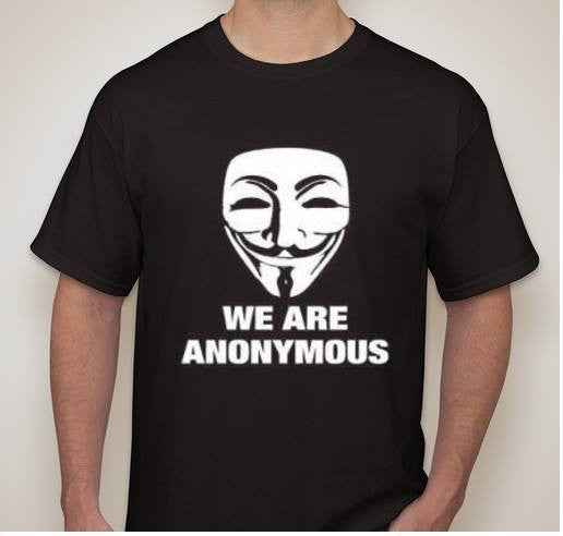 We Are Anonymous Mask White Art T-shirt