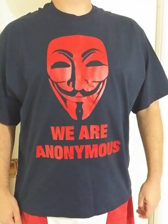 We Are Anonymous Mask Red Art T-shirt