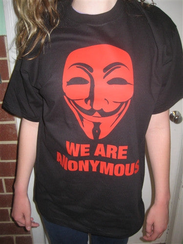 We Are Anonymous T-shirt | Red Image