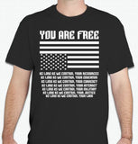 You Are Free As Long As With Upside Down USA Flag T-shirt