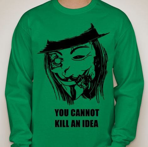 Anonymous Guy Fawkes Zombie Long Sleeve T-shirt