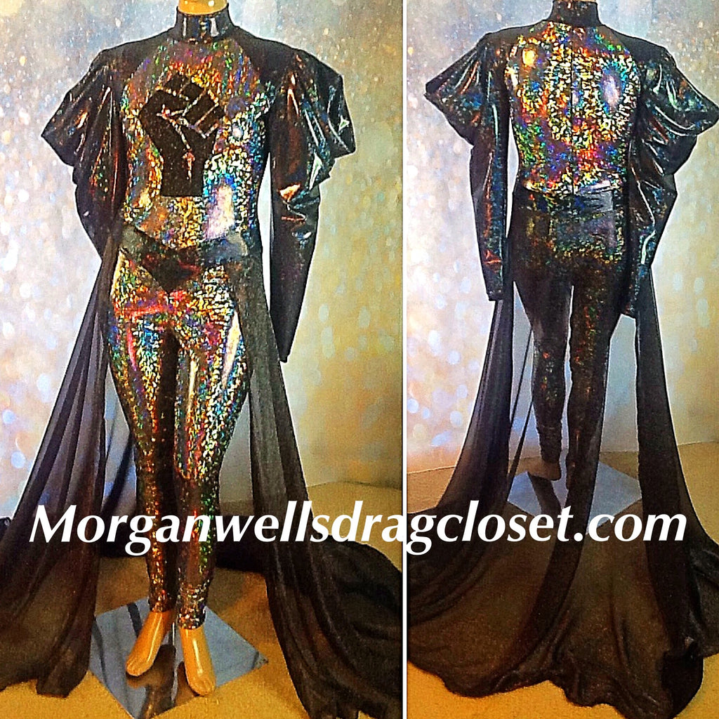 BLM BLACK AND SILVER HOLOGRAM CATSUIT!
