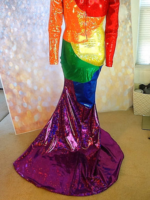 HOLOGRAM SWOOSH GAY PRIDE DRESS
