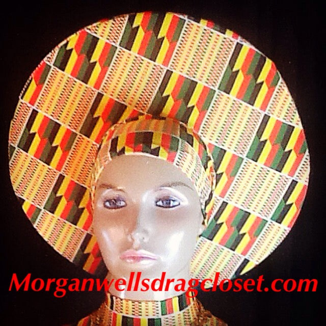 AFRICAN PRINT HAT NO 2
