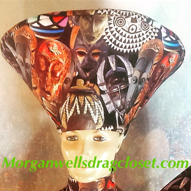 AFRICAN MASK PRINT HAT