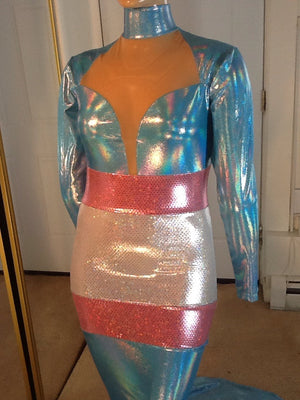TRANS GENDER PRIDE FLAG DRESS