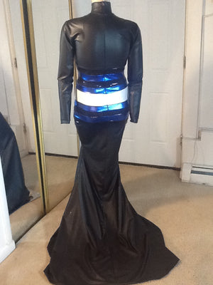 LEATHER PRIDE FLAG DRESS