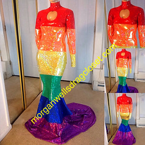 HOLOGRAM GAY PRIDE DRESS