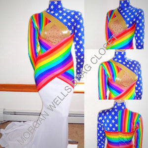 GAY PRIDE STARS & STRIPES PRIDE DRESS NO. 3!