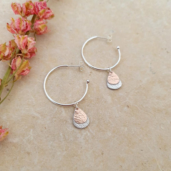 Dewdrop_Silver and Rose gold